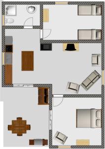 Red Gum Cottage - floor plan